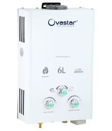 Ovastar 6 Ltr Ltr GAS WATER HEATER OWGG-3300 Instant Geysers WHITE