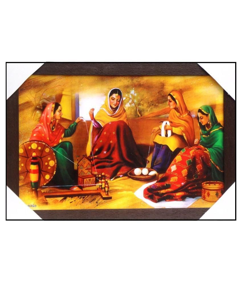 AMAZING COLLECTIONS Rajasthani Painting With Frame