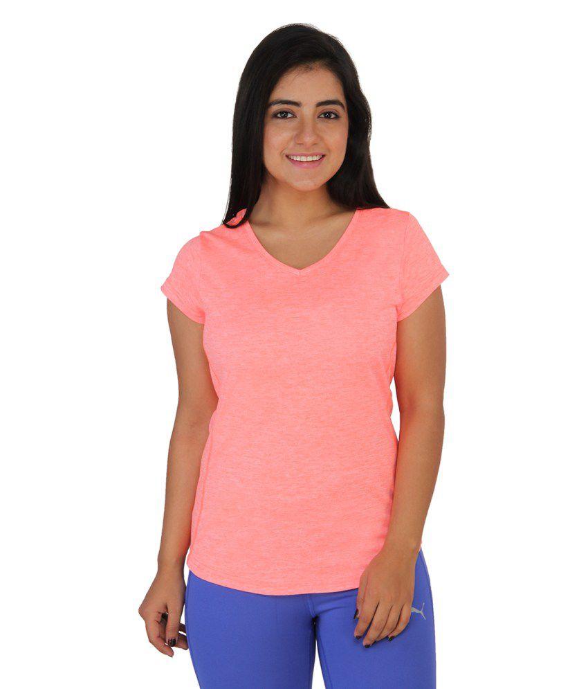 Puma Women Printed Pink Tshirts