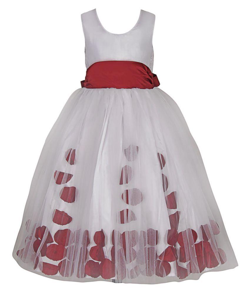 eaff9dd0433e Samsara Couture White Satin Ball Gown - Buy Samsara Couture White ...