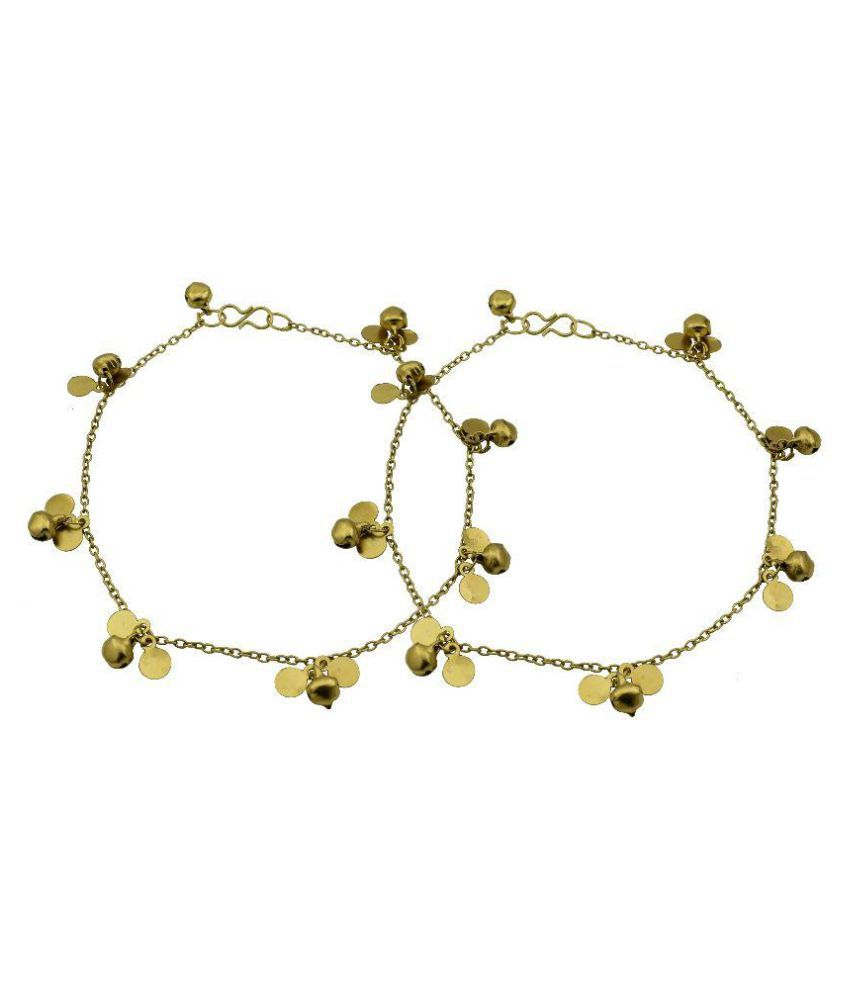 High Trendz Golden Alloy Anklet