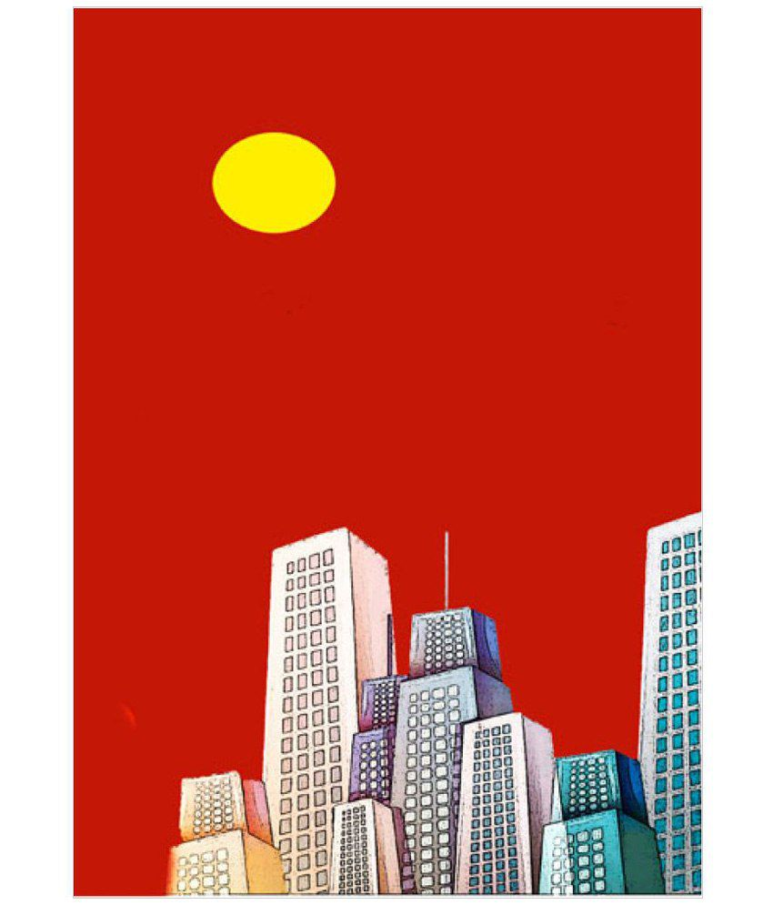 Ulta Anda Red Nights City A3 Non Tearable Paper Art Prints Without