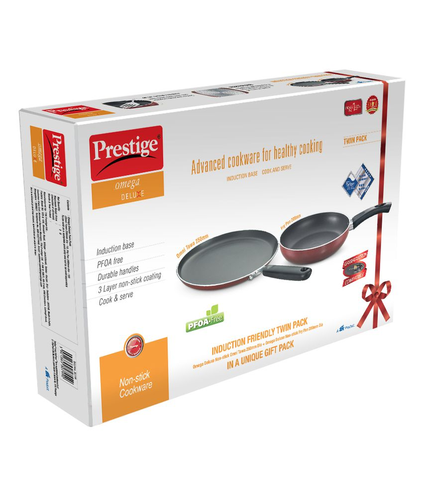 Prestige Omega Deluxe Non Stick Cookware Set Fry Pan 200