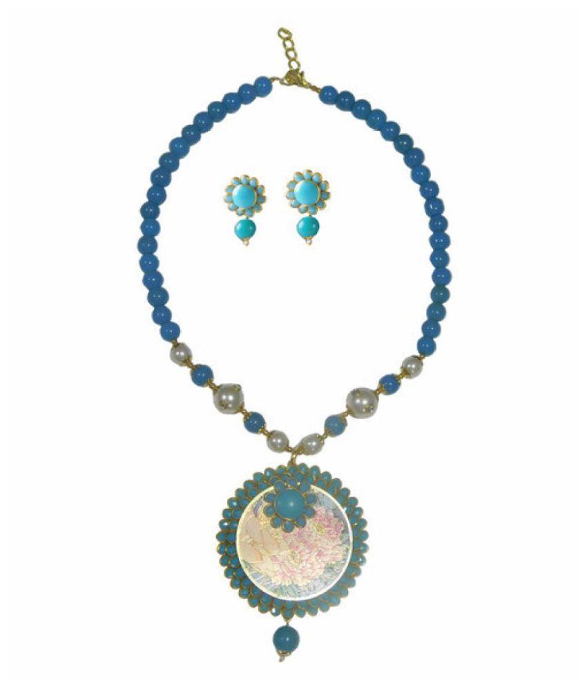 Sujwel Multicolor Necklace Set