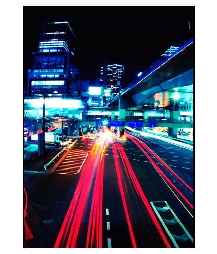 Ulta Anda Fast City Lights A3 Non Tearable Paper Art Prints