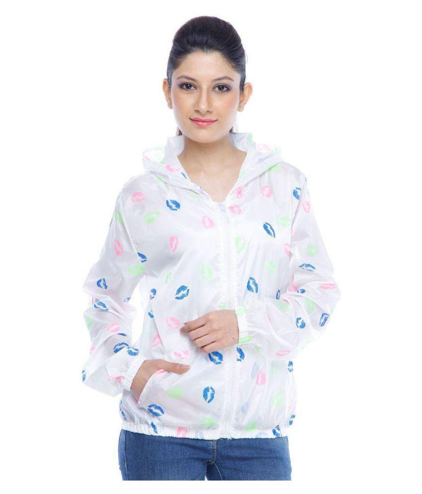 Designeez White Nylon Short Rainwear