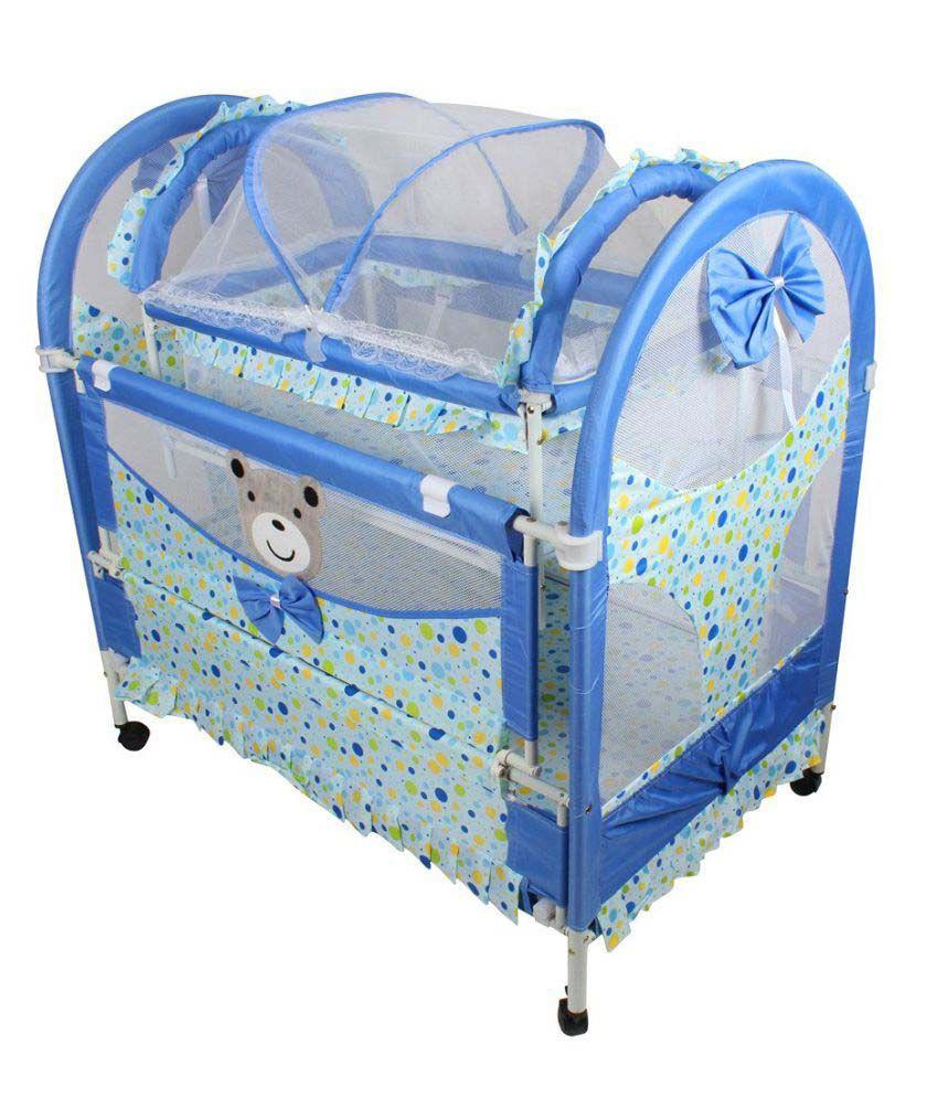 Baybee Luxuria Baby Cradle (Blue)