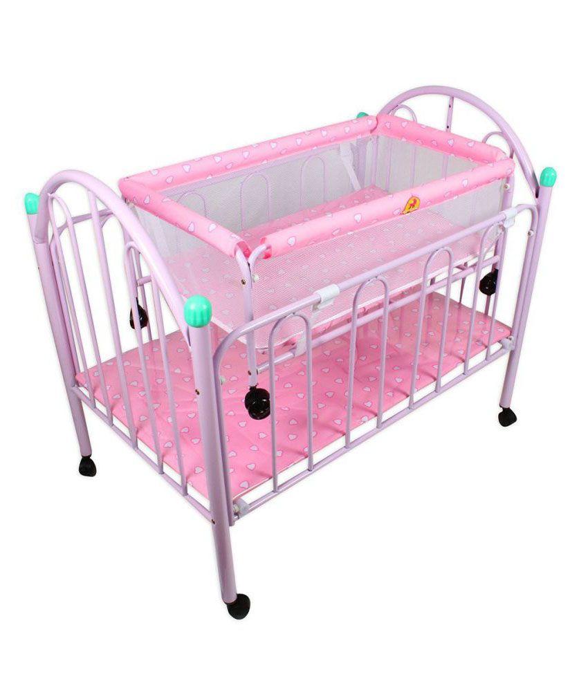 Baybee Pink Crib N Cradle