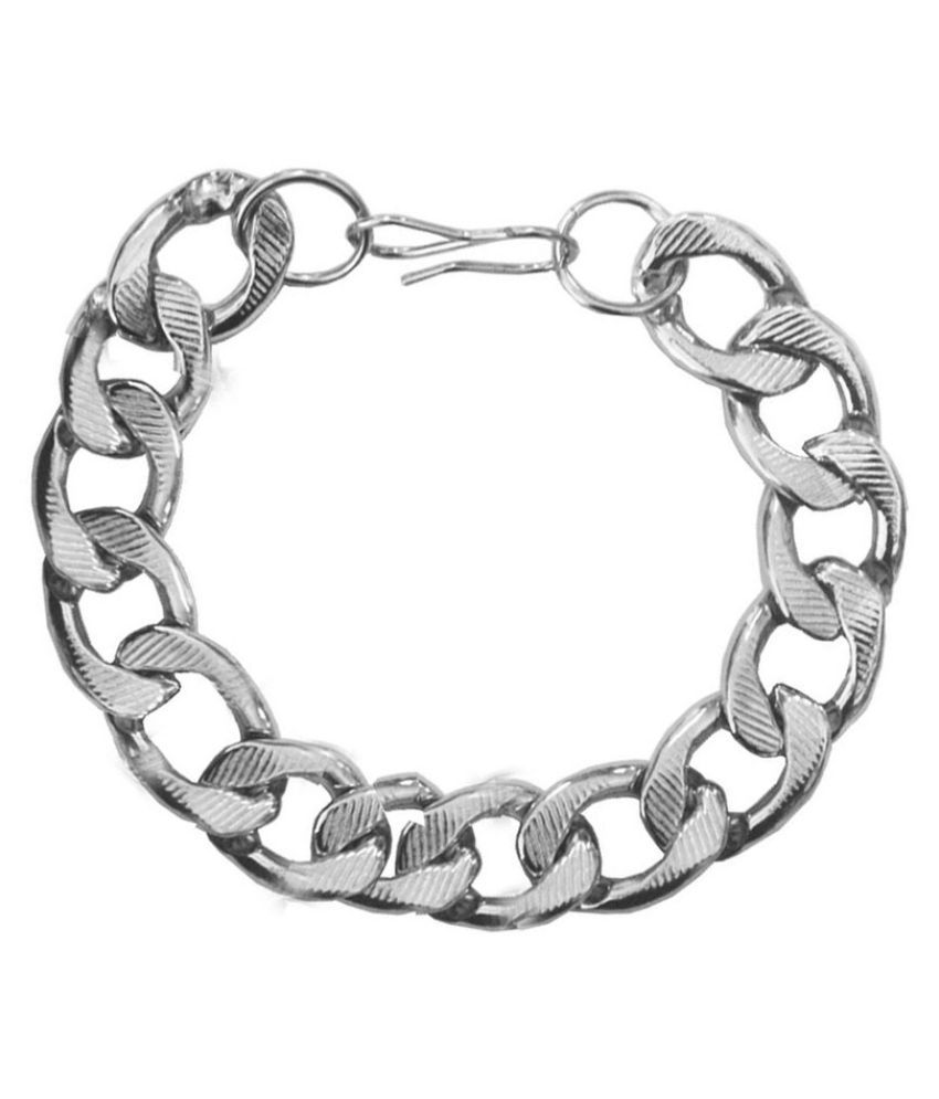 Mens Jewell Silver Alloy Bracelet