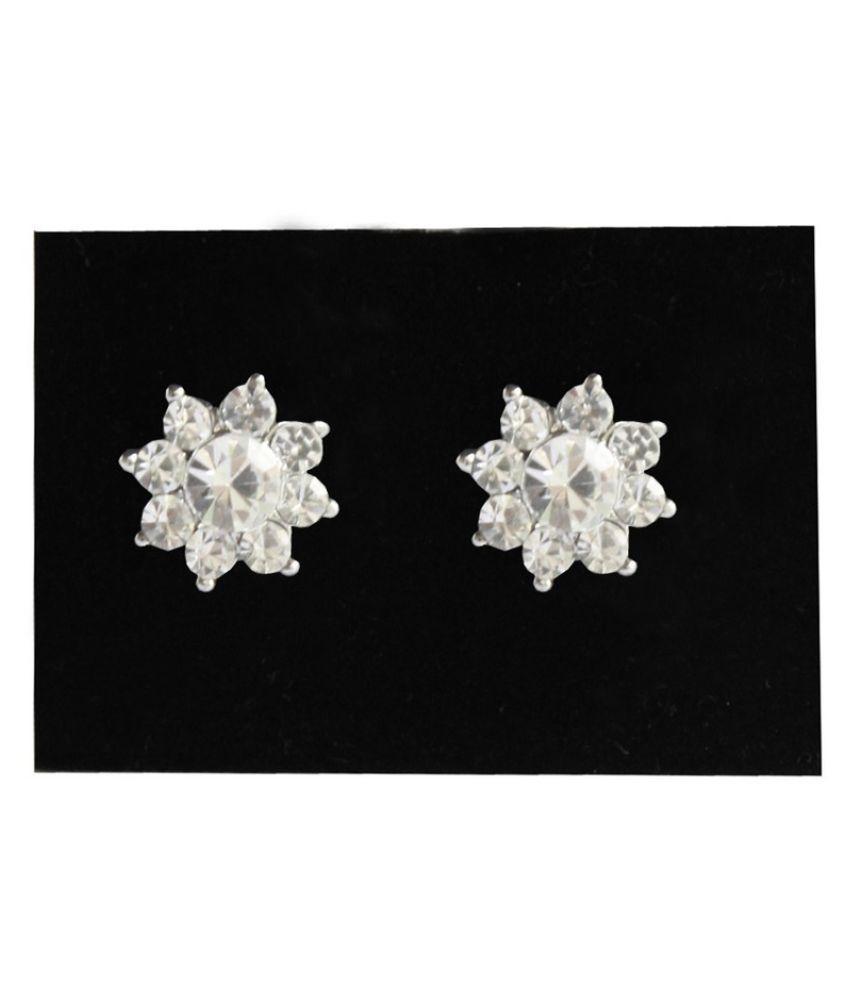 Pihu Silver Stud Earrings