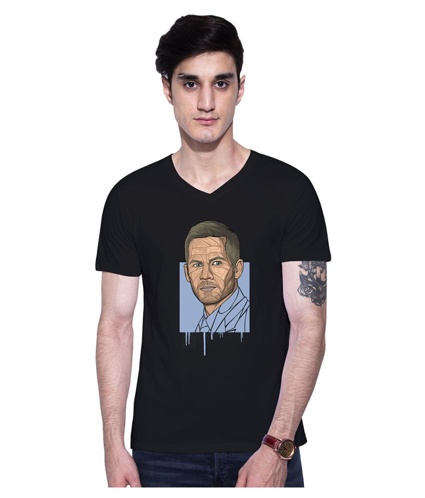 Uptown 18 Black V-Neck T-Shirt