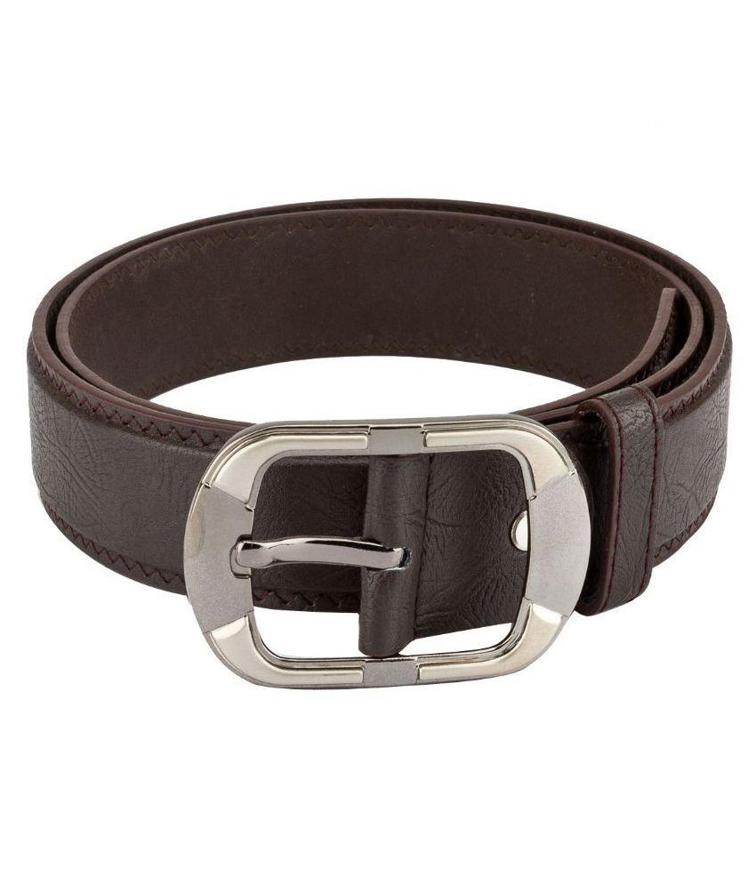 Mango People Brown Leather Casual Belts