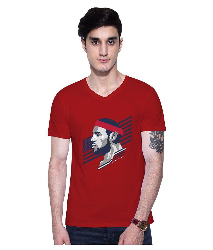 Uptown 18 Red V-Neck T-Shirt