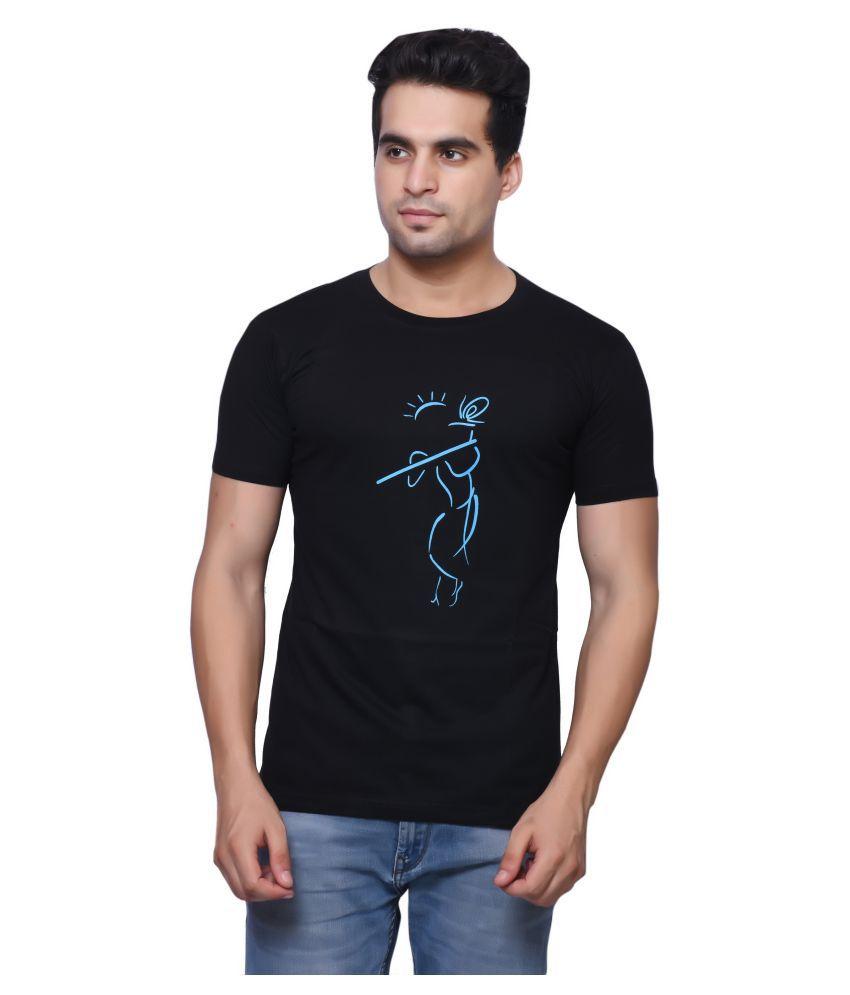 Oneliner Black Round T-Shirt