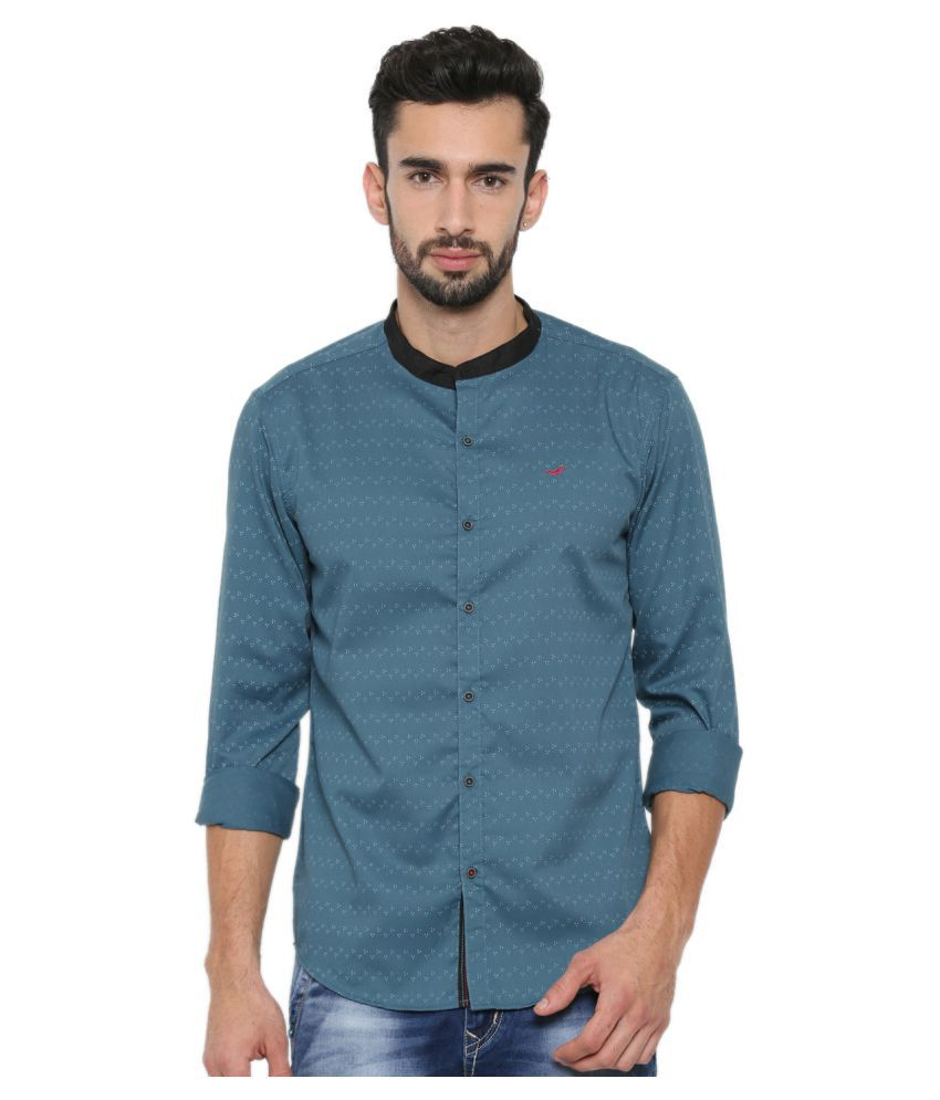 With Green Casuals Regular Fit Shirt