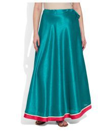 Very Me Turquoise Polyester A-Line Skirt