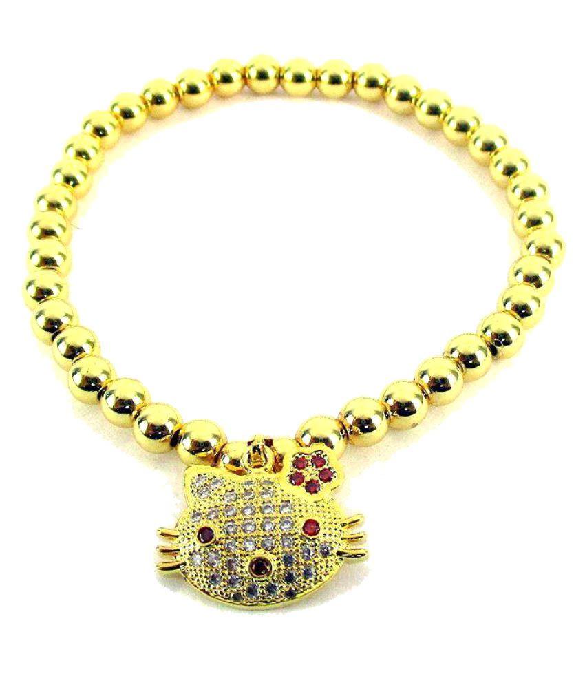 Streetsoul Golden Alloy Charm Bracelet
