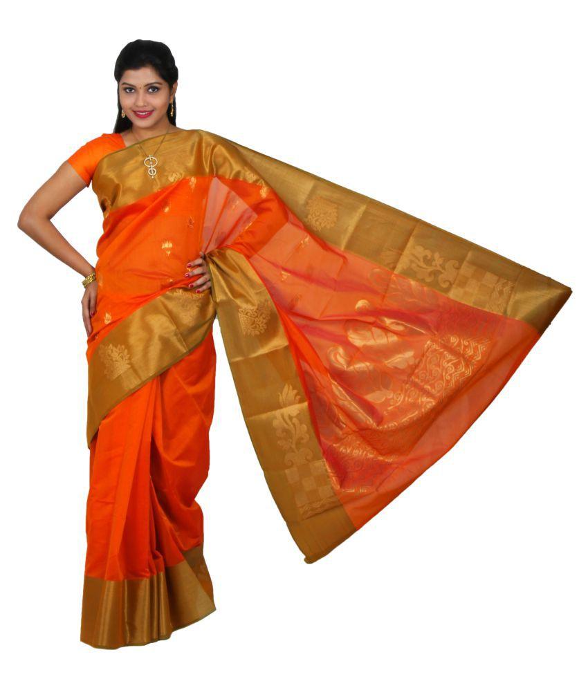 The Chennai Silks - Contrast Border Silk Cotton Saree