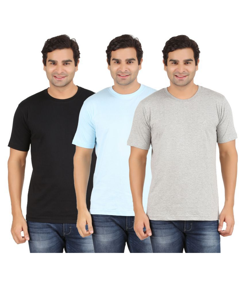 Arkatic Multi Round T-Shirt Pack of 3