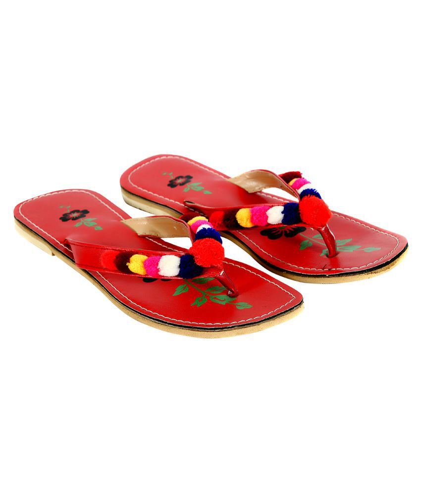 Joshi Arts Maroon Slippers