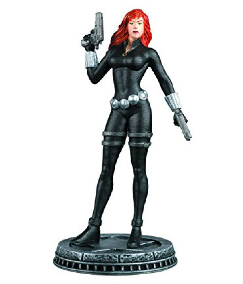 MARVEL CHESS FIGURINE COLLECTION MAGAZINE #25 BLACK WIDOW WHITE PAWN