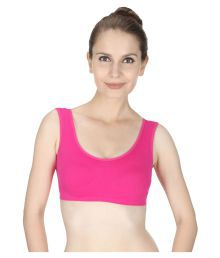 Vloria Pink Cotton Lycra T-Shirt/ Seamless Bra