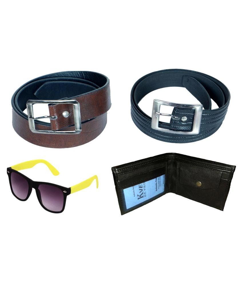 Kvell Be Proud Brown Faux Leather Formal Belts