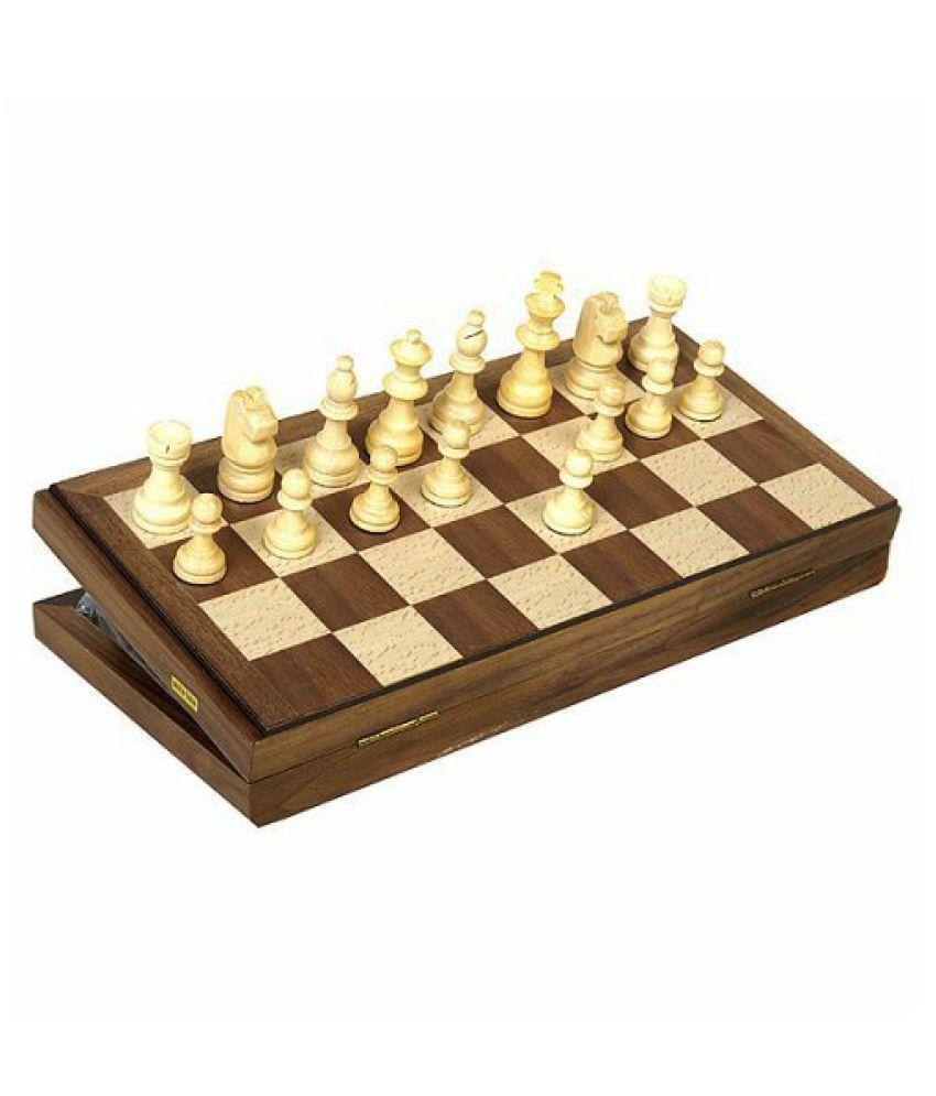 Travel Magnetic Walnut Chess Set