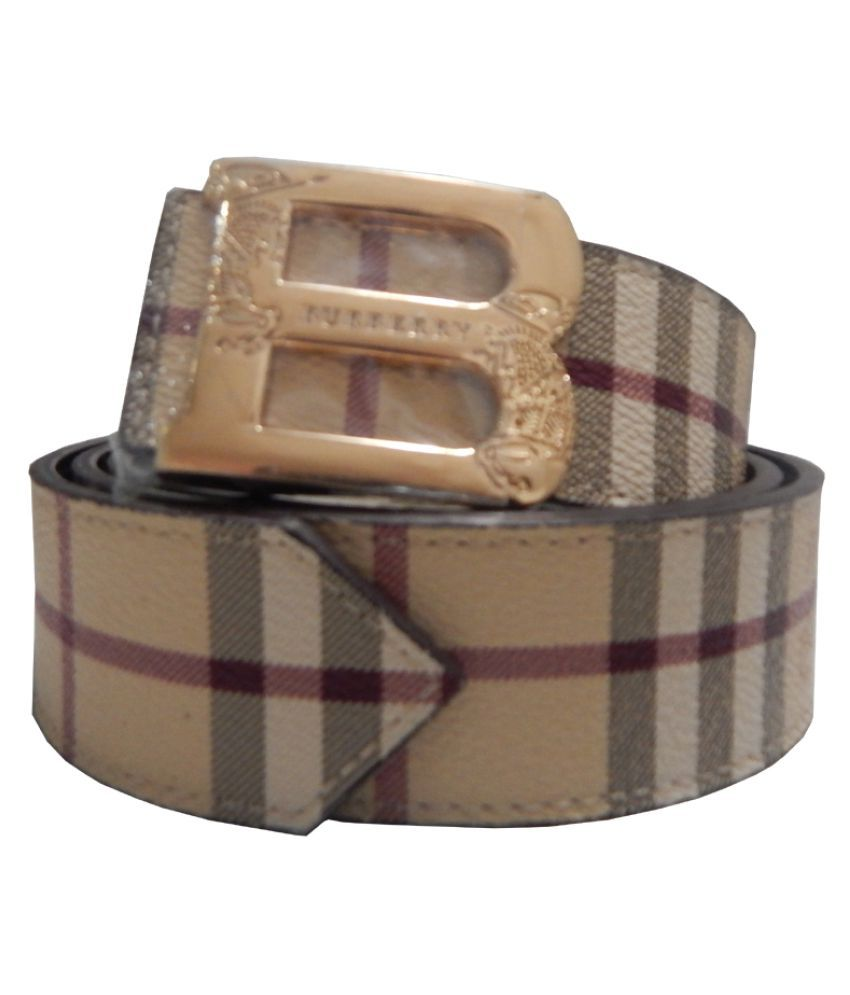 Burberry London Brown Faux Leather Formal Belts