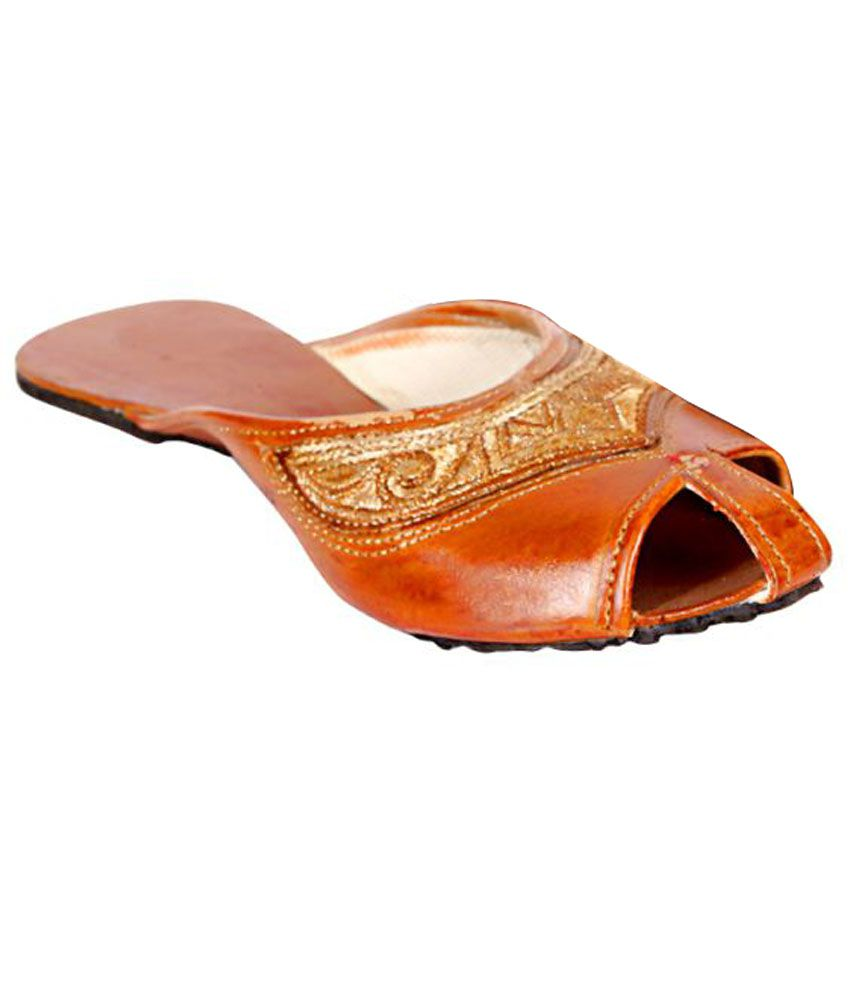 Joshi Arts Brown Flat Ethnic Footwear