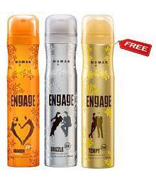 Engage Women Buy 2 Get 1 Deodorants Free Abandon + Drizzle + Tempt 150 ml Each