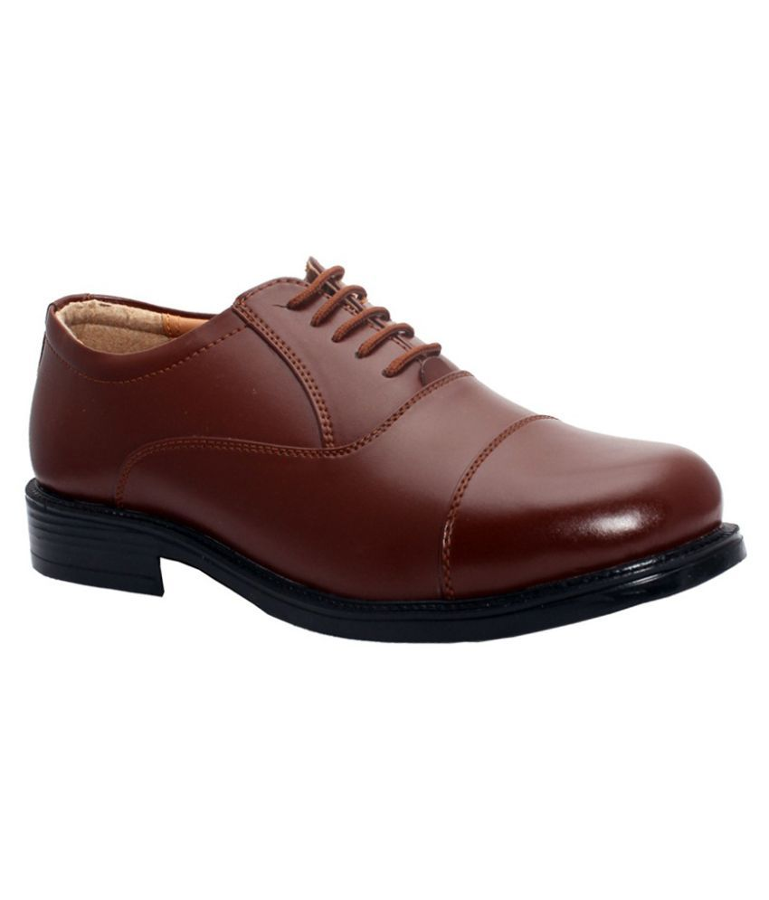 Bata Brown Office Artificial Leather Formal Shoes