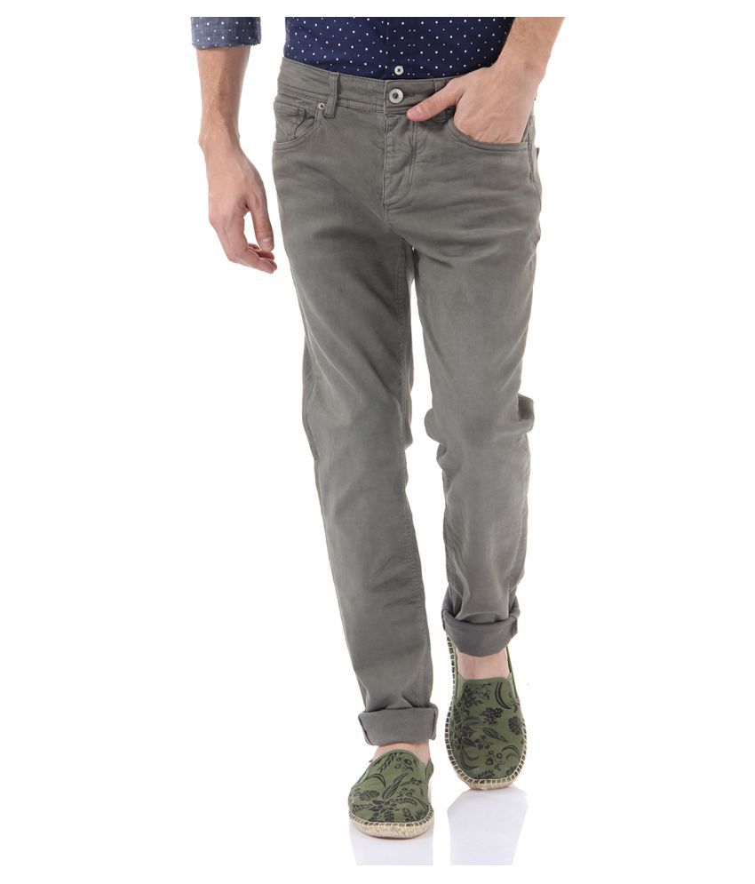 Selected Grey Skinny Solid