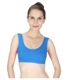 Vloria Blue Cotton Lycra T-Shirt/ Seamless Bra