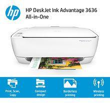 HP DeskJet Ink Advantage 3636 All-in-One (Print, Scan, Copy, Wifi) Wireless Printer