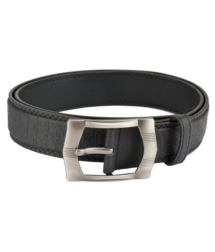 Mango People Black Leather Formal Belts