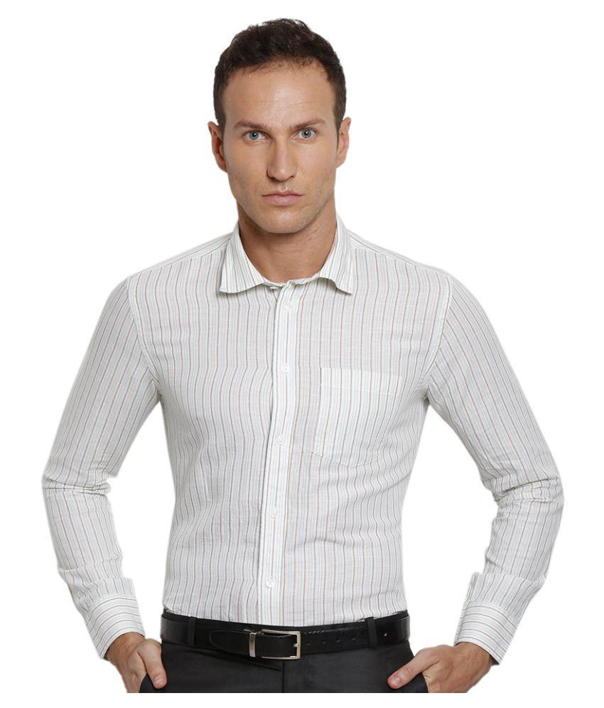 Urban Nomad White Formal Slim Fit Shirt