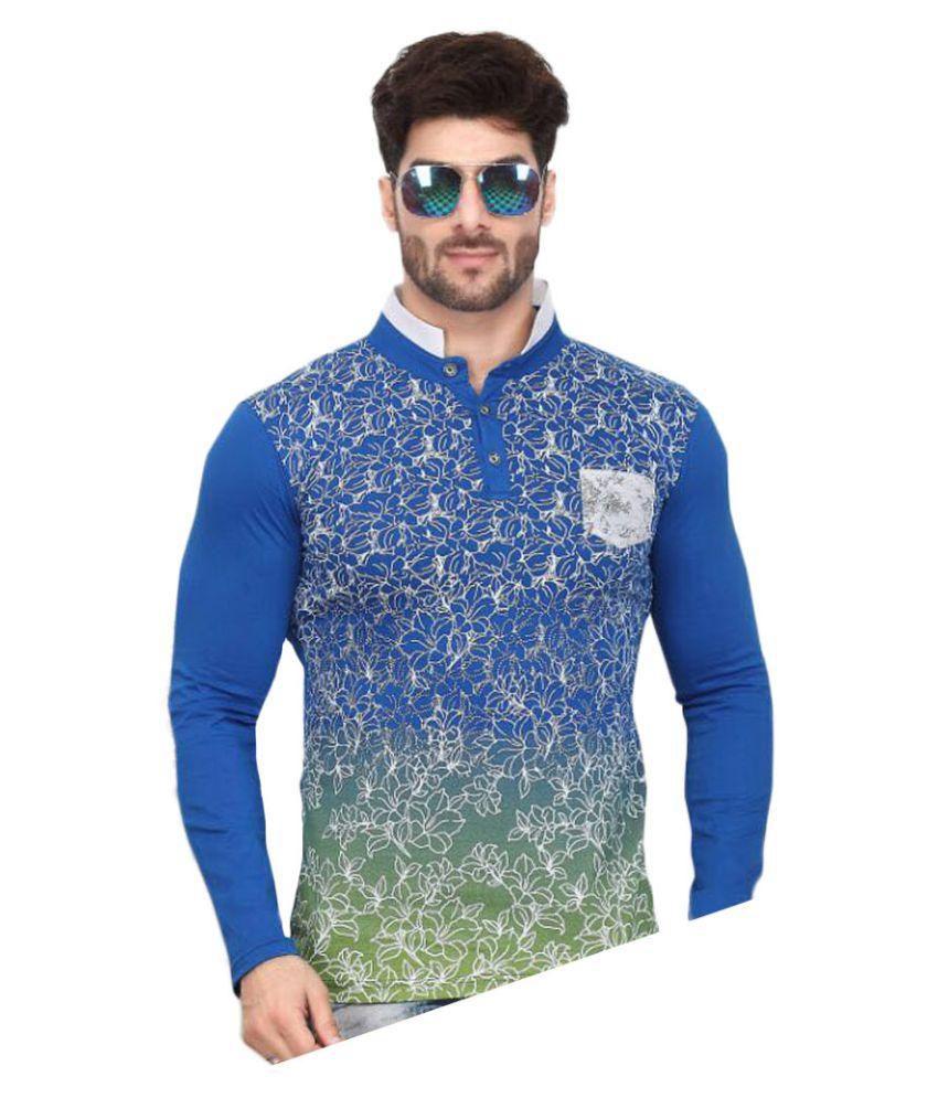 V Plus 9 Multi High Neck T-Shirt