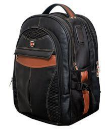 Vigne Black Solid Laptop Bags - 656236239455