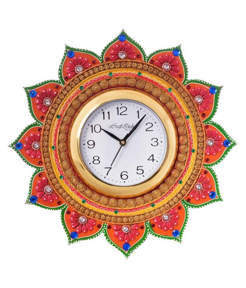 eCraftIndia Circular Analog Wall Clock -