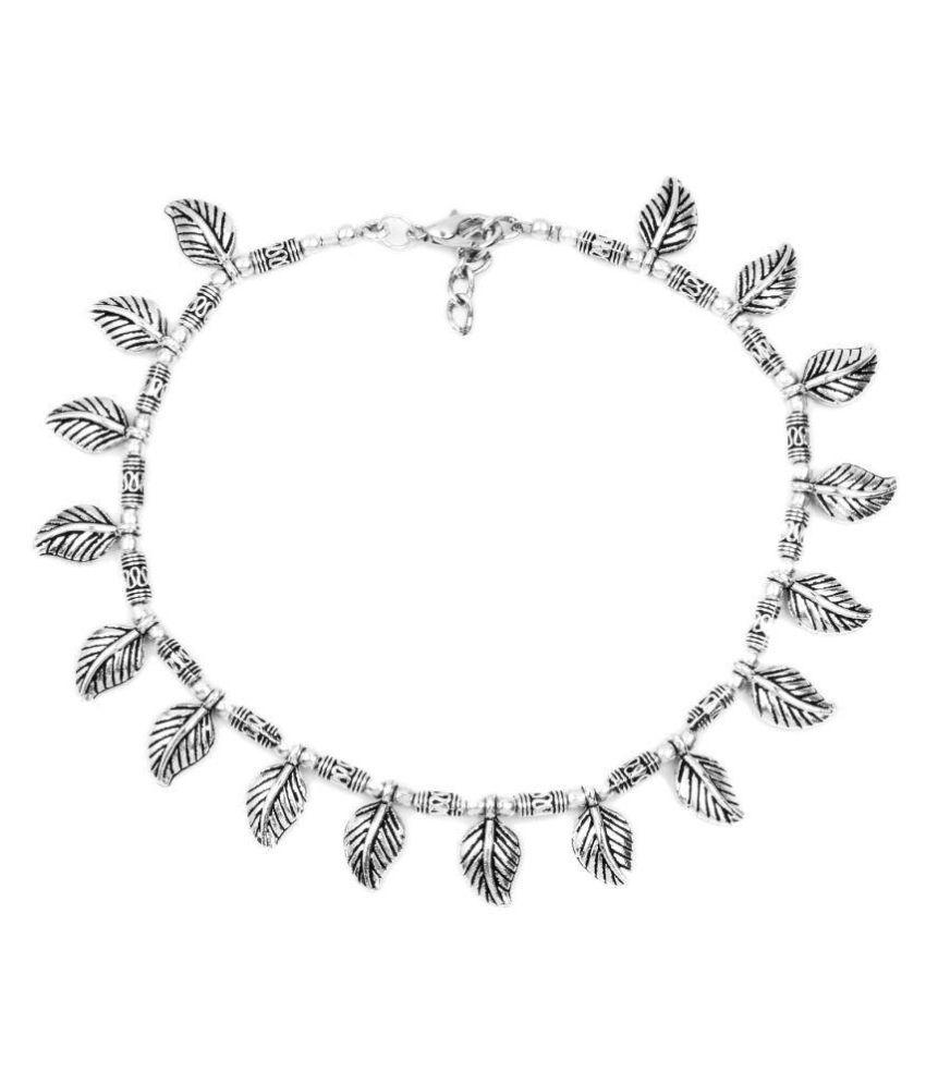 Johareez Silver Anklets