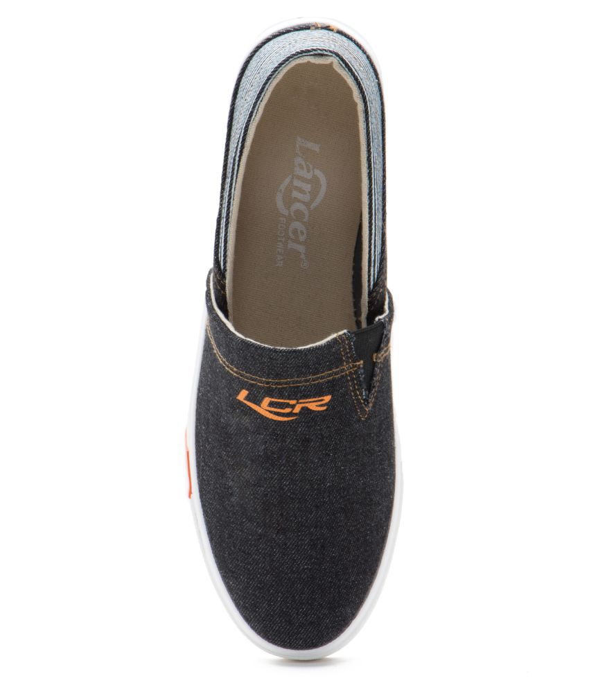 e5c3125e7 Lancer Men s Canvas Lifestyle Black Casual Shoes - Buy Lancer Men s Canvas  Lifestyle Black Casual Shoes Online at Best Prices in India on Snapdeal