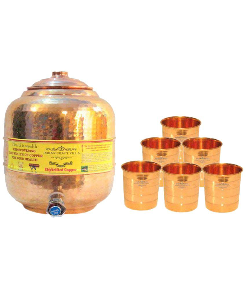 Nirvana Craft Villa Copper Oil Container Set of 7