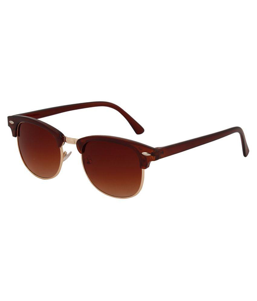 Skull Brown Wayfarer Sunglasses ( BLO014 )
