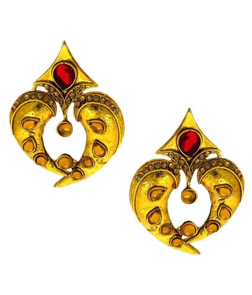 Anuradha Art Golden Alloy Stud