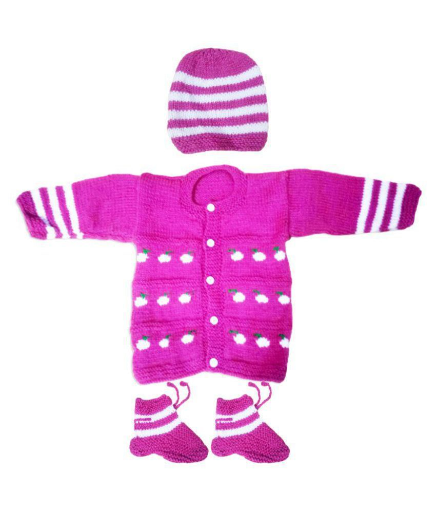 655c3a580 Dadima Ki Bunai Hand Knitted Purple Sweater Set - Buy Dadima Ki ...