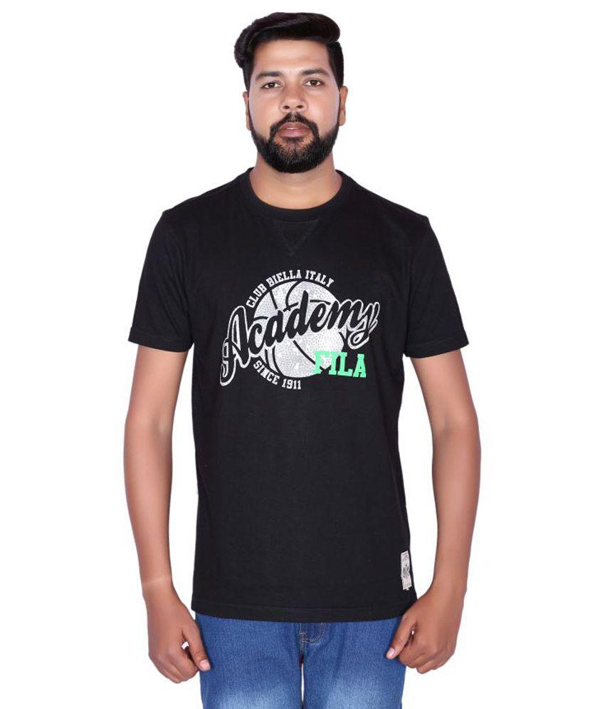 Fila Black Round T-Shirt