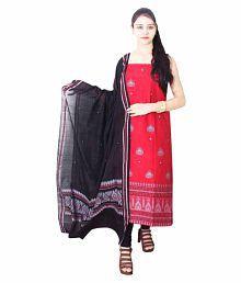 Kadambini Saree Sambalpuri Handloom Pure cotton Unstitched Designer Dress Material for Women/Girls