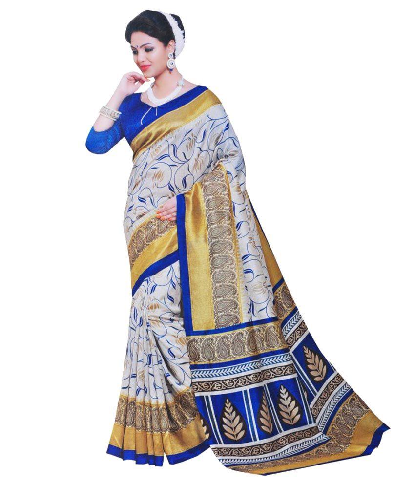 Fresh Multicoloured Tussar Silk Saree
