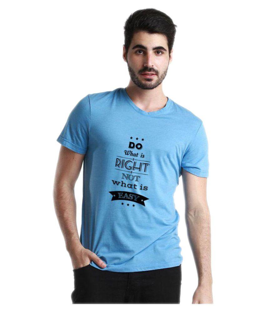 Redfool Fashions Blue Round T-Shirt